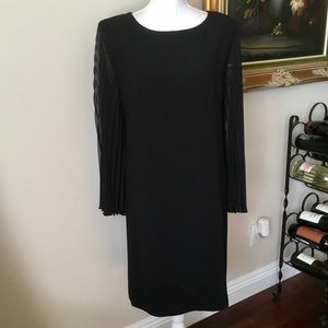 Virgo vintage black sheath chiffon sleeve size 16